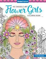 KC Doodle Art Flower Girls Coloring Book (Kc Doodle Art)