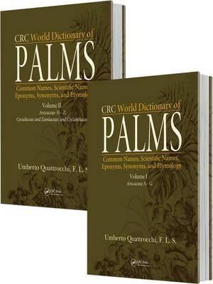Bog, hardback CRC World Dictionary of Palms af Umberto Quattrocchi
