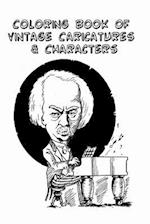 Coloring Book of Vintage Caricatures and Characters