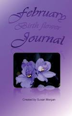February Birth Flower Journal