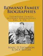 Narrative Biographies of the Romano Family Genealogy