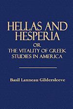 Hellas and Hesperia af Basil Lanneau Gildersleeve