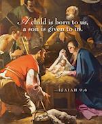 A Child Nativity Christmas Bulletin, Large (Pkg of 50)