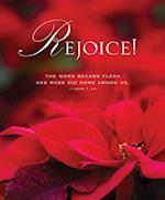 The Word Poinsettia Christmas Bulletin, Large (Pkg of 50)