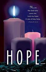 Hope Advent Candle Sunday 1 Bulletin (Pkg of 50)