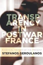 Transparency in Postwar France (Cultural Memory in the Present)