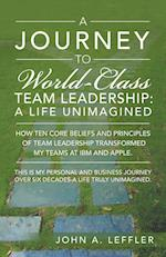 A Journey to World-Class Team Leadership: A Life Unimagined