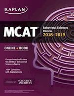 MCAT Behavioral Sciences Review 2018-2019 (Kaplan Test Prep)