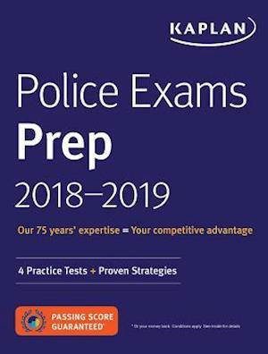 Bog, paperback Police Exams Prep Plus 2018-2019 af Kaplan Test Prep