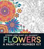 Stress Less Paint-By-Number Flowers af Adams Media