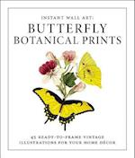 Butterfly Botanical Prints (Instant Wall Art)