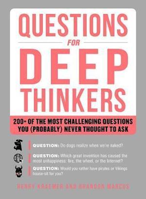 Bog, paperback Questions for Deep Thinkers af Henry Kraemer