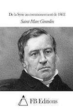 de La Syrie Au Commencement de 1862 af Saint-Marc Girardin