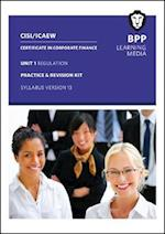 CISI Capital Markets Programme Certificate in Corporate Finance Unit 1 Syllabus Version 13