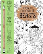 Draw it! Colour it! Beasts (Macmillan Classic Colouring Books)