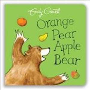 Bog, papbog Orange Pear Apple Bear af Emily Gravett