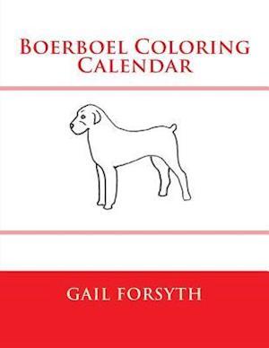 Boerboel Coloring Calendar