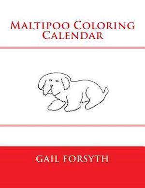 Maltipoo Coloring Calendar