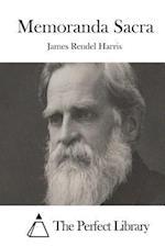 Memoranda Sacra af James Rendel Harris