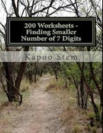 200 Worksheets - Finding Smaller Number of 7 Digits