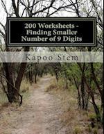 200 Worksheets - Finding Smaller Number of 9 Digits
