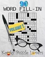 Word Fill-In Puzzle Book, 90 Puzzles af Kooky Puzzle Lovers