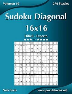 Sudoku Diagonal 16x16 - Dificil a Experto - Volumen 10 - 276 Puzzles