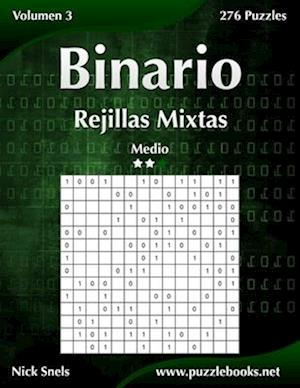 Binario Rejillas Mixtas - Medio - Volumen 3 - 276 Puzzles