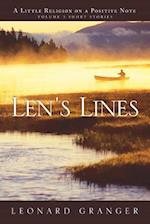Len's Lines: A Little Religion On A Positive Note