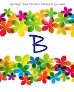 Spring Time Flowers Personal Journal - B af Kooky Journal Lovers