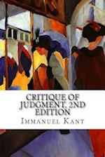 Critique of Judgment, 2nd Edition af Immanuel Kant