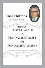 A Fundamentalist of Fundamentalists
