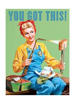 Rosie the Riveter Making a Grilled Cheese Encouragement Greeting Cards