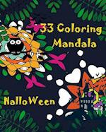33 Coloring Mandala Book Halloween af Mimic Mock