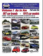 The Most Complete Car Encyclopedia - Volume I - AA to Am - Full Color Edition