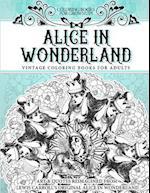 Coloring Books for Grownups Alice in Wonderland af Vintage Coloring Books