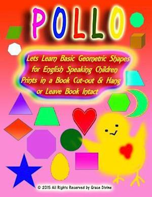 Lets Learn Basic Geometric Shapes for English Speaking Children Prints in a Book Cut-Out & Hang or Leave Book Intact