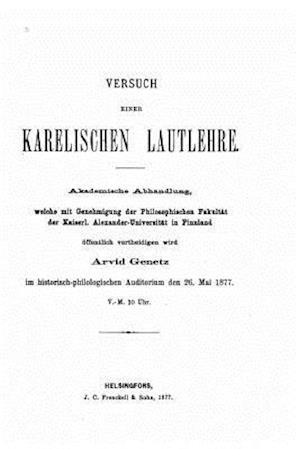 Versuch Einer Karelischen Lautlehre