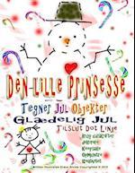 Den Lille Prinsesse Tegner Jul Objekter Glaedelig Jul Tilslut Dot Linje Brug Udskrifter Dekorere Keepsake Opmuntre Kreativitet