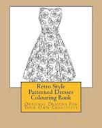 Retro Style Patterned Dresses Colouring Book