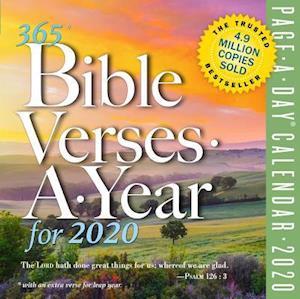 2020 365 Bible Verses-A-Year Colour Page-A-Day Calendar