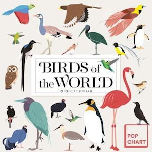 Birds of the World by Pop Chart Lab Wall Calendar 2020