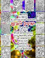 Malebog Blomster AF Surrealistiske Kunstner Grace Divine for Voksne for Born Relax & de- Stress Sjov Underholdende Laer Kunstarter Brug Sider Dekorere