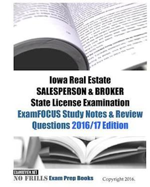 Iowa Real Estate Salesperson & Broker State License Examination