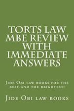 Torts Law MBE Review with Immediate Answers