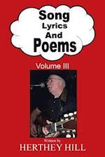 Song Lyrics and Poems: Volume III