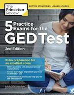 5 Practice Exams for the Ged Test (College Test Preparation)