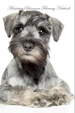 Miniature Schnauzer February Notebook Miniature Schnauzer Record, Log, Diary, Special Memories, to Do List, Academic Notepad, Scrapbook & More