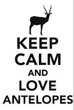Keep Calm & Love Antelopes Notebook & Journal. Productivity Work Planner & Idea Notepad