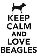 Keep Calm & Love Beagles Notebook & Journal. Productivity Work Planner & Idea Notepad